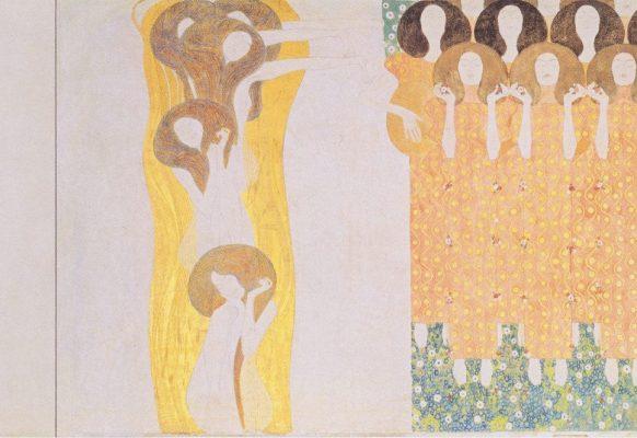 Oda do Radości (fragment fryzu Beethovena) – Gustav Klimt, 1902