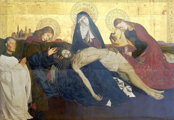 Pietà z Awinionu, XV w., tempera na desce
