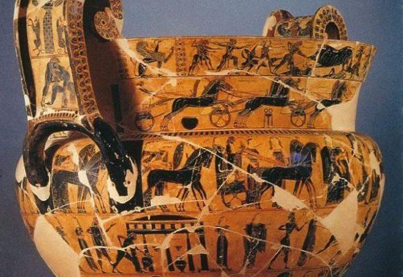 Waza François – Klitias i Ergotimis, ok 570 r. p.n.e., styl czarnofigurowy
