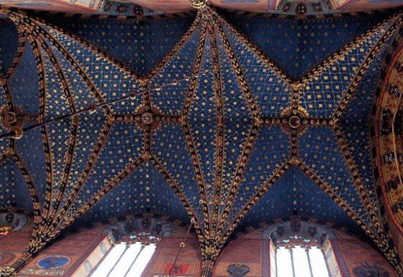 dekoracje sklepienia kościoła Mariackiego w Krakowie – Jan Matejko, 1887-1891, polichromia