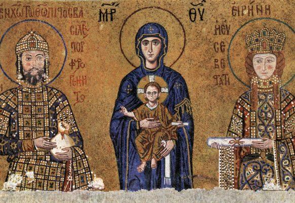 mozaika z bazyliki Haghia Sophia w Stambule IX:X w.
