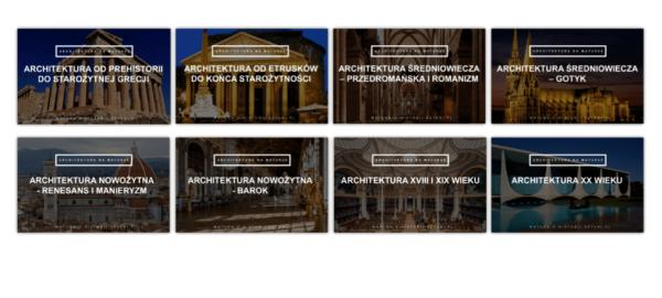 kurs architektura na maturze historia sztuki